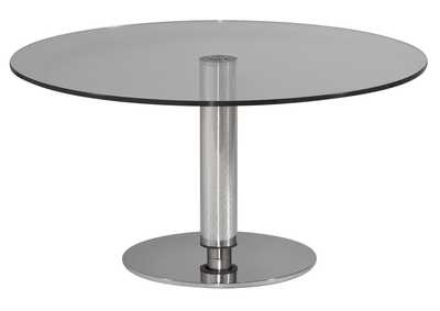 Image for Grey Glass Round Hi-Low Dining Table