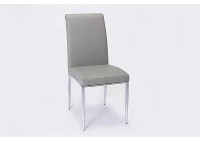 Alexis Grey Rolled-Back Side Chair (Set of 4)