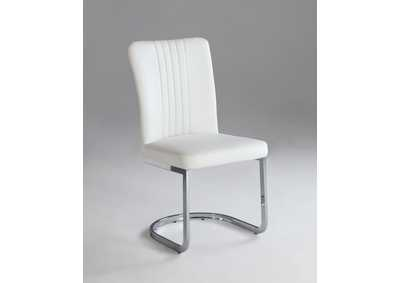 Alina White Channel Back Cantilever Side Chair (Set of 4)