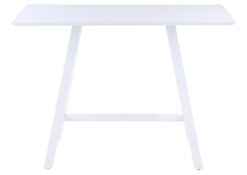 Carmel White Rectangular Aluminum Outdoor Pub Table