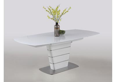 Charlotte White Motion-Extendable Dining Table