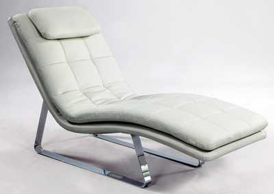 Corvette Contemporary  Lounge Chair  w/ Chrome Legs
