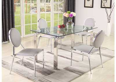 Cristina 5 Piece Dining Set W/ 4 Lisa Side Chairs