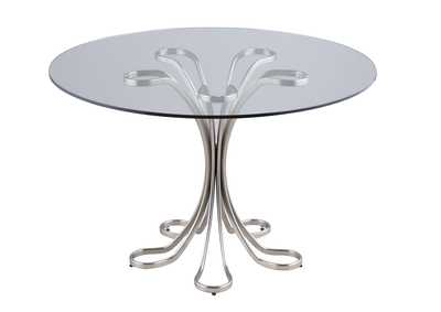 Desiree White Glass Dining Table