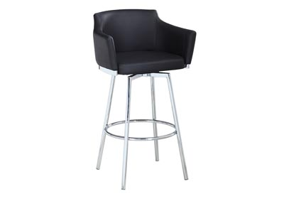 Dusty Black Club Bar Stool w/ Memory Swivel
