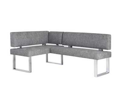Genevieve Grey Gray Upholstered Bench