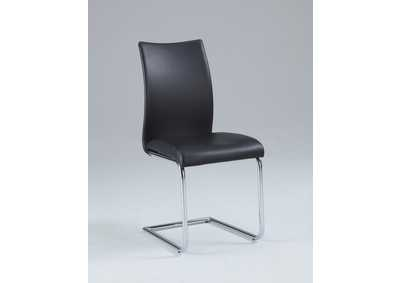 Jane Chrome Modern Contour Back Cantilever Side Chair [Set of 4]