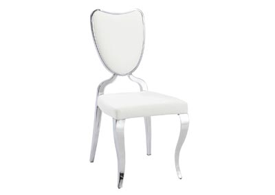 Letty Chrome Heart-Back Chair with Cabriole Legs [Set of 2]