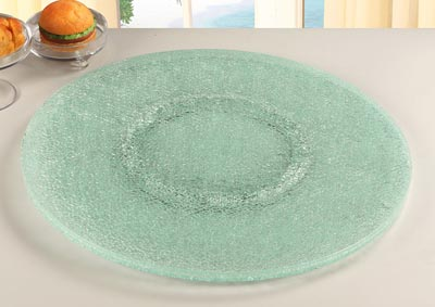 "Lazy Susan 24"" Cracked Glass"