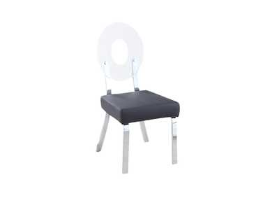 Lenor Black Acrylic-Back Side Chair (Set of 2)