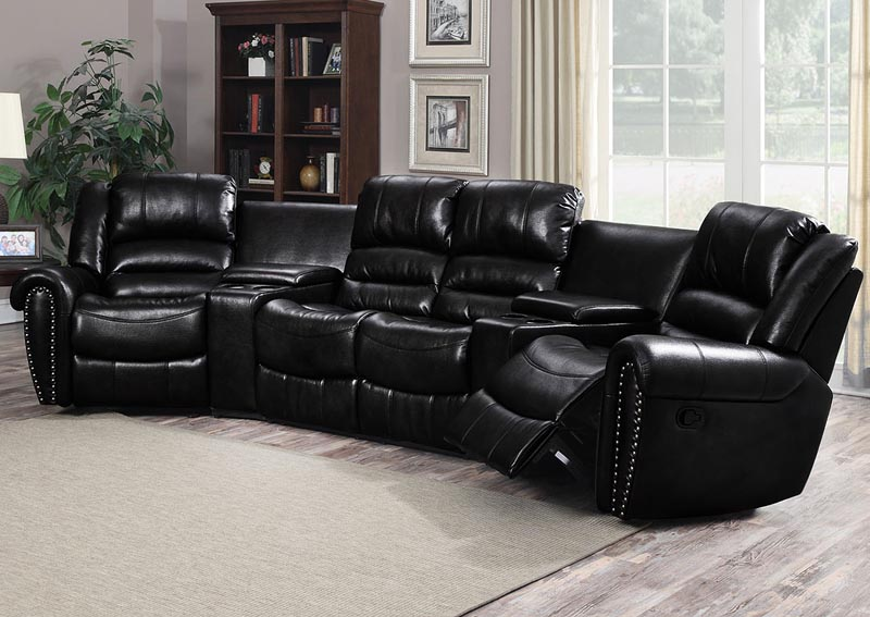 Image for Laredo Black 5 Piece Sectional w/Console