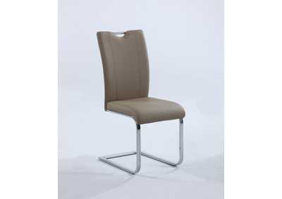 Melissa Taupe Handle-Back Side Chair (Set of 2)
