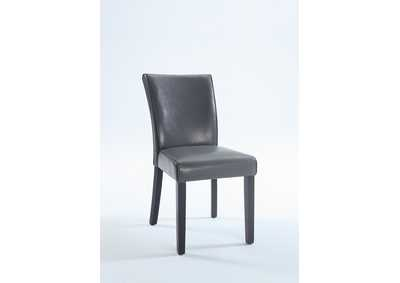 Michelle Grey Bonded Leather Parson Chair (Set of 2)