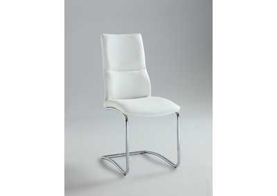 Piper White Cantilever Curved-Back Side Chair (Set of 2)