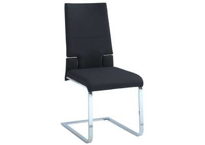 Savannah Black Motion Back Cantilever Side Chair (Set of 2)