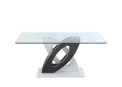 Stella White Modern Glass Top Dining Table