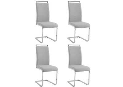 Sunny Grey Handle Back Cantilever Side Chair (Set of 4)