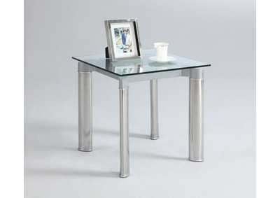 Image for Tara Tempered Glass Top Lamp Table