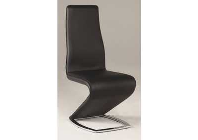 Tara Black Z-Shaped Side Chair (Set of 2)