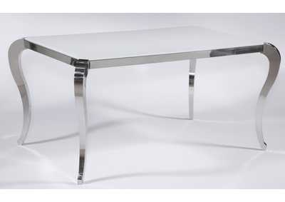 Teresa Super White Starphire Glass Dining Table