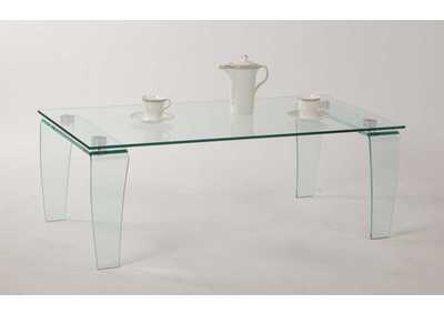 Image for Vera Clear All-Glass Rectangular Cocktail Table