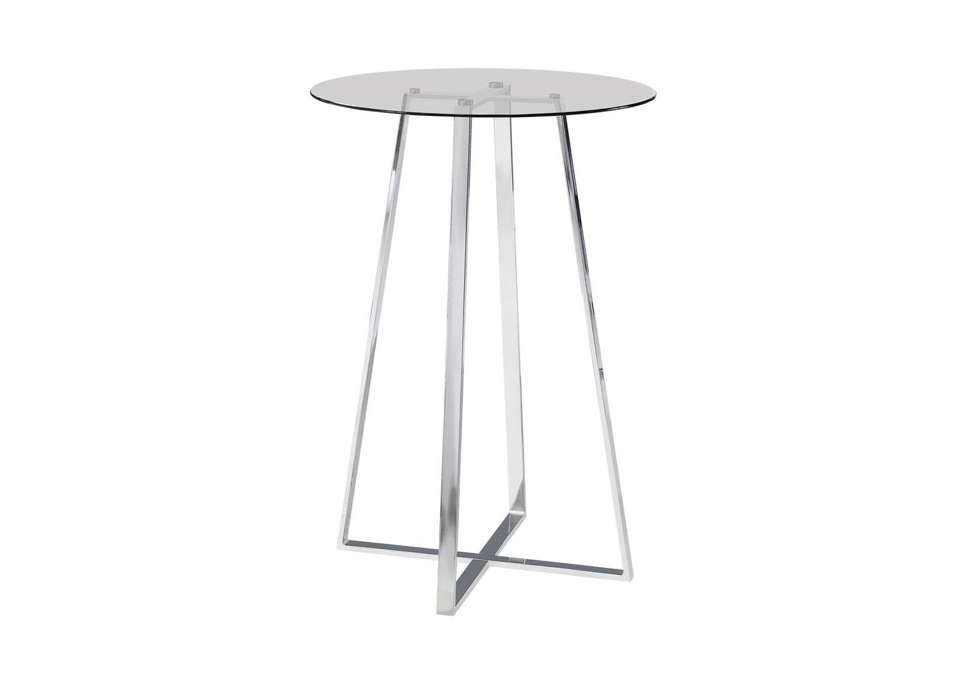 Alto Contemporary Chrome and Glass Bar Table,Coaster Furniture
