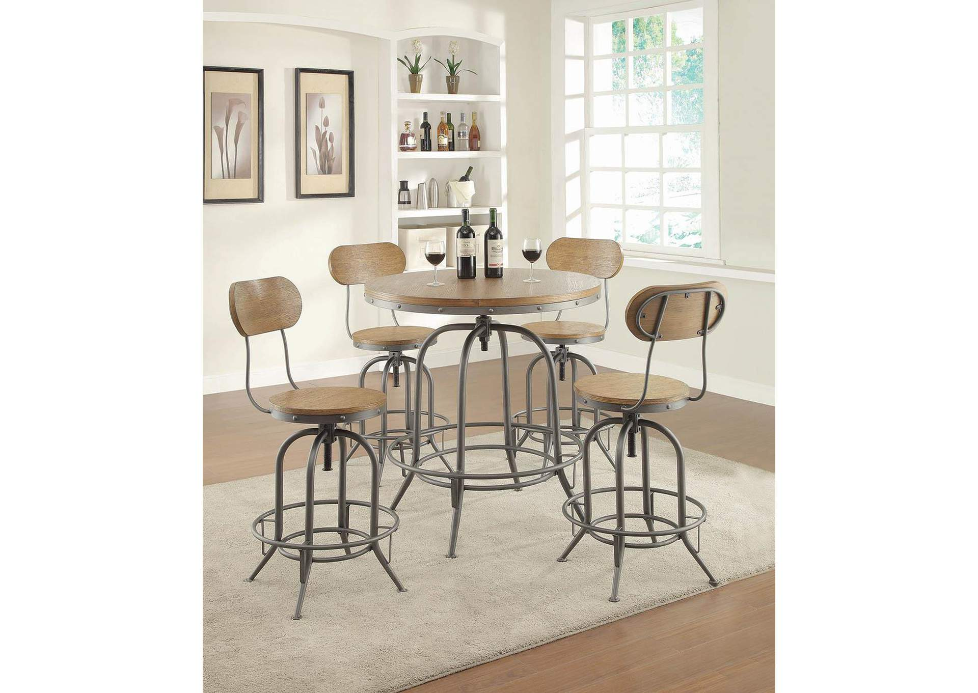 Cultured Pearl Rustic Graphite Bar Stool [Set of 2],Coaster Furniture