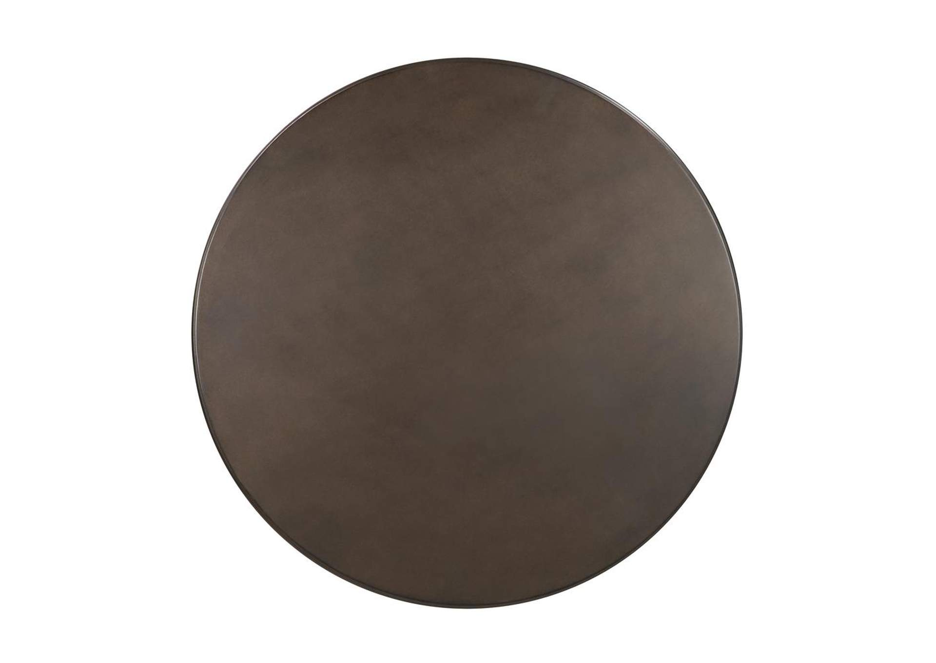 Merino Rustic Dark Russet and Antique Bronze Counter-Height Table,Coaster Furniture
