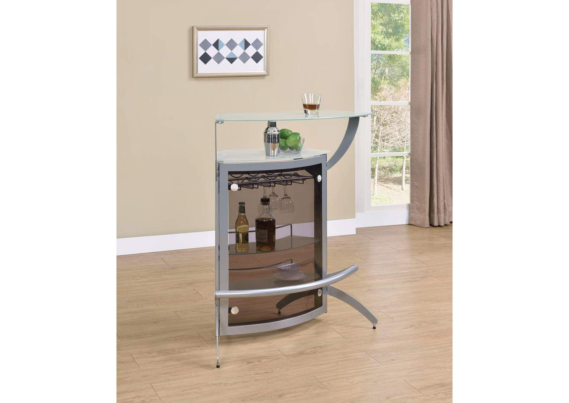 Mercury Contemporary Recreation Room Bar Unit,Coaster Furniture