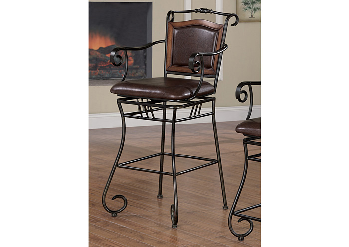 Upholstered Bar Stool Brown And Bronze,Coaster Furniture
