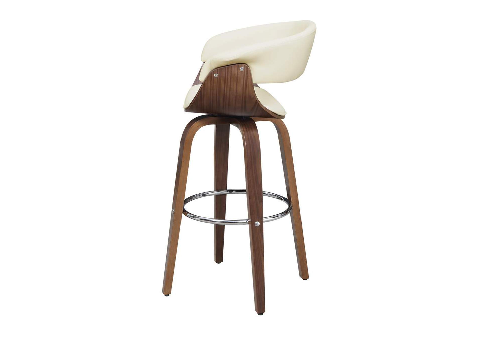 Upholstered Swivel Bar Stool Walnut And Ecru,Coaster Furniture