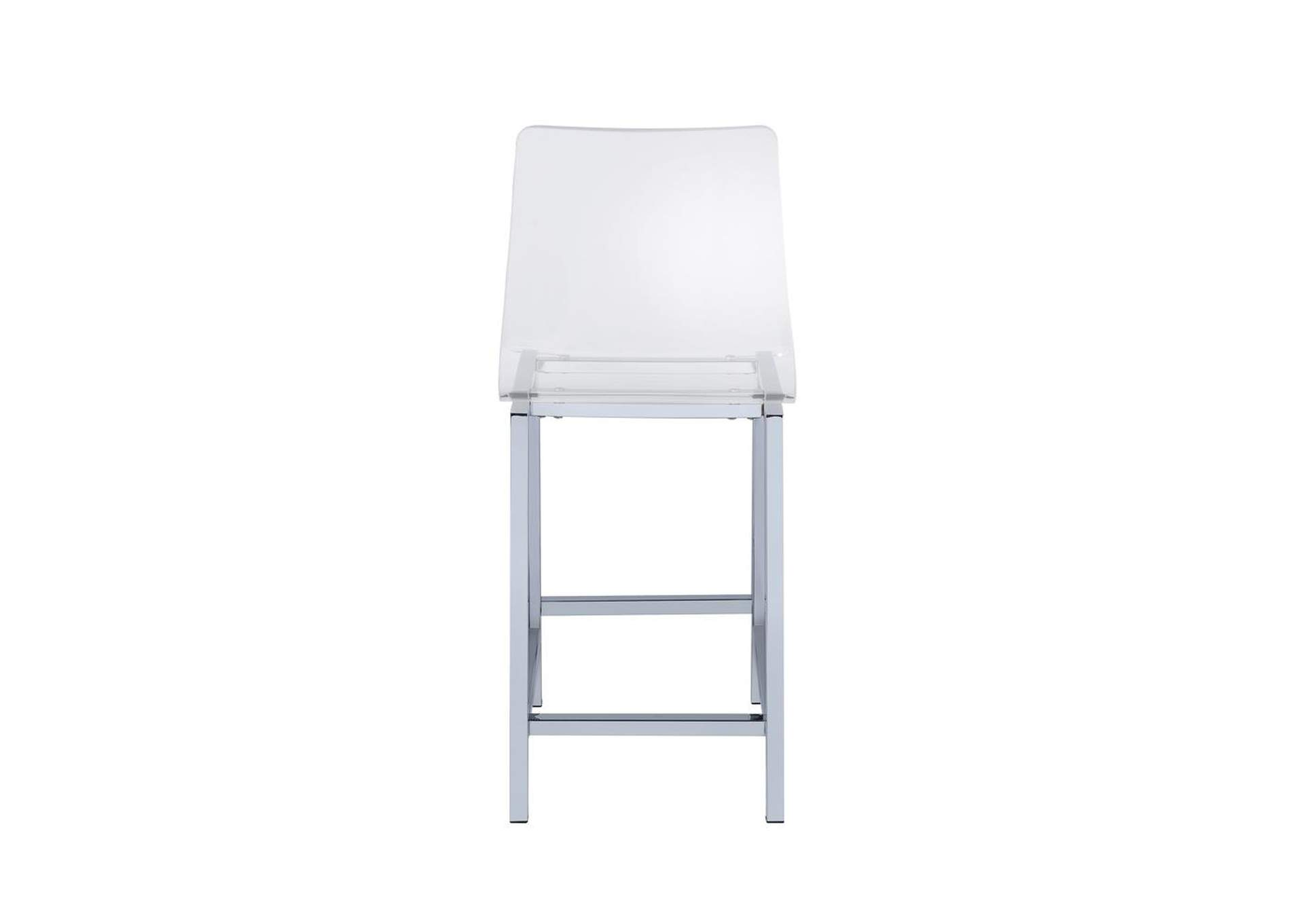 Counter Height Stools Chrome And Clear Acrylic [Set of 2],Coaster Furniture