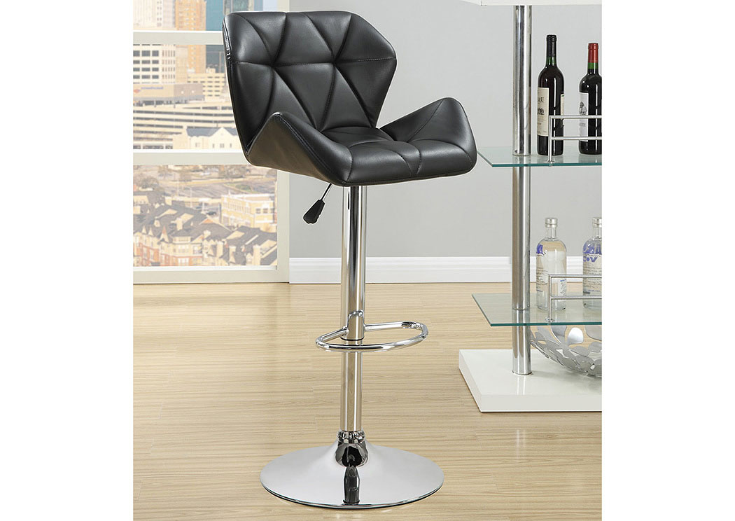 Adjustable Bar Stools Chrome And Black (Set of 2),Coaster Furniture