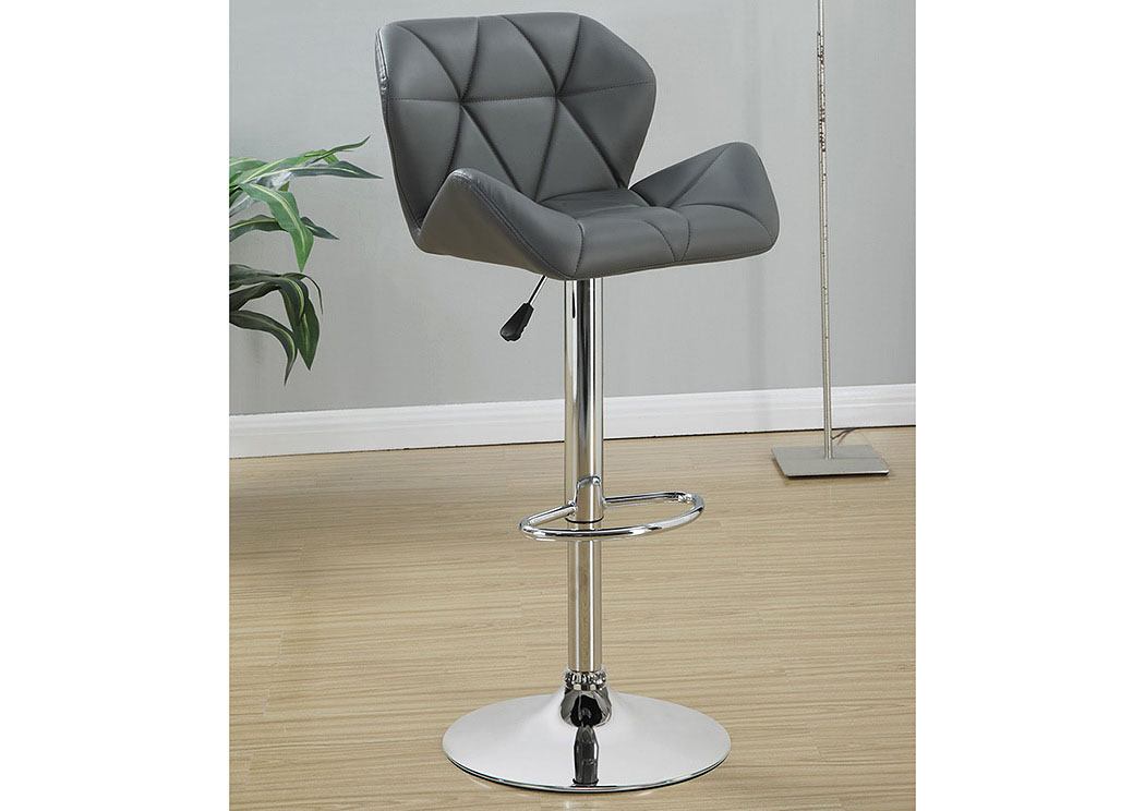 Adjustable Bar Stools Chrome And Grey (Set of 2),Coaster Furniture