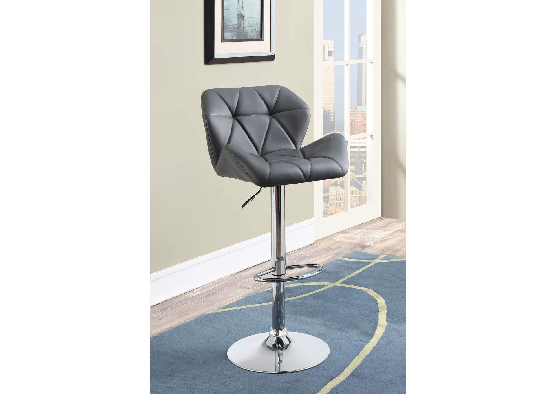 Cultured Pearl Contemporary Grey Adjustable Bar Stool,Coaster Furniture