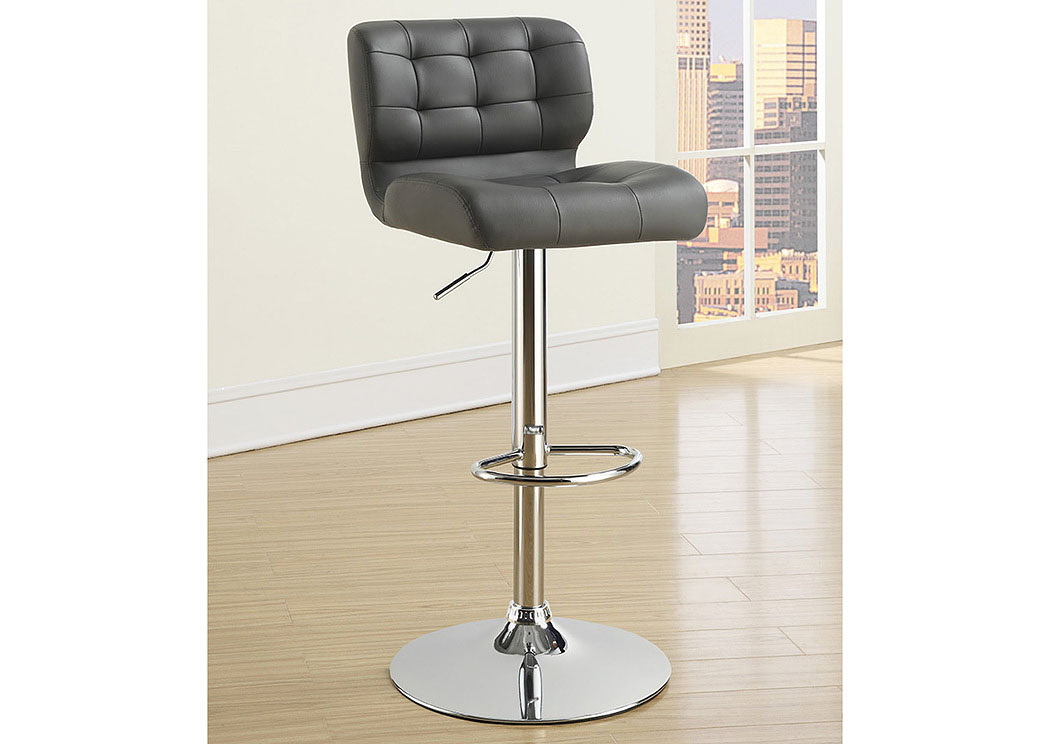 Upholstered Adjustable Bar Stools Chrome And Grey (Set of 2),Coaster Furniture