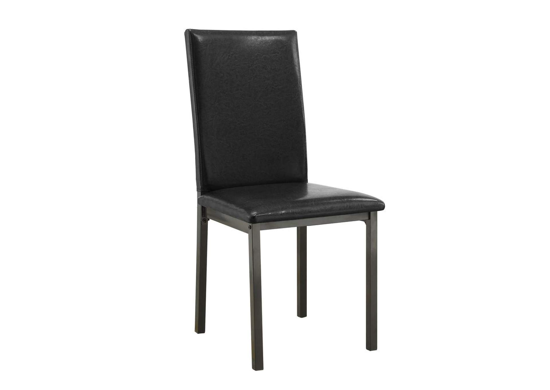 Mine Shaft Garza Black Upholstered Side Dining Chair,Coaster Furniture