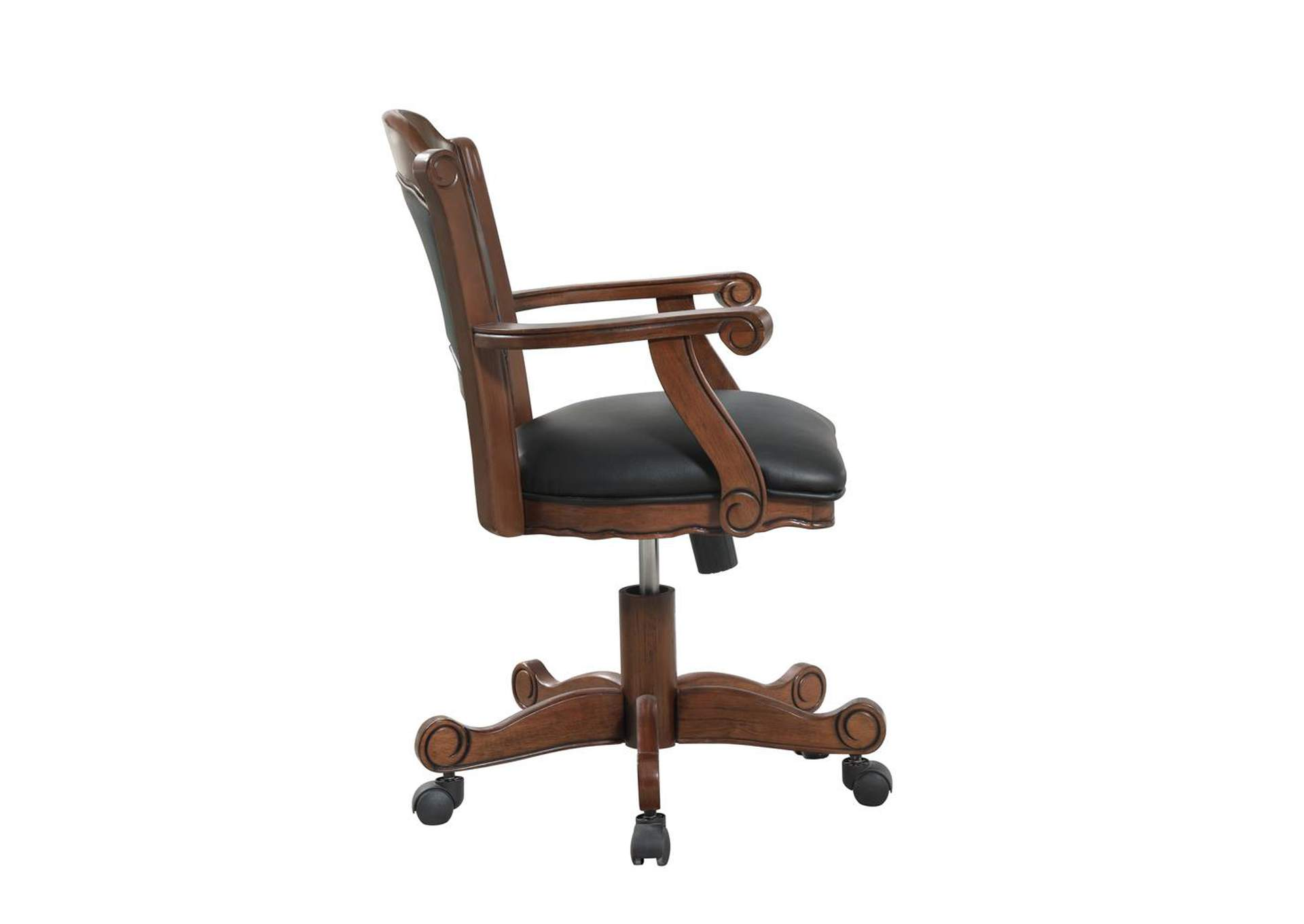 Casual Black and Tobacco Upholstered Game Chair,Coaster Furniture