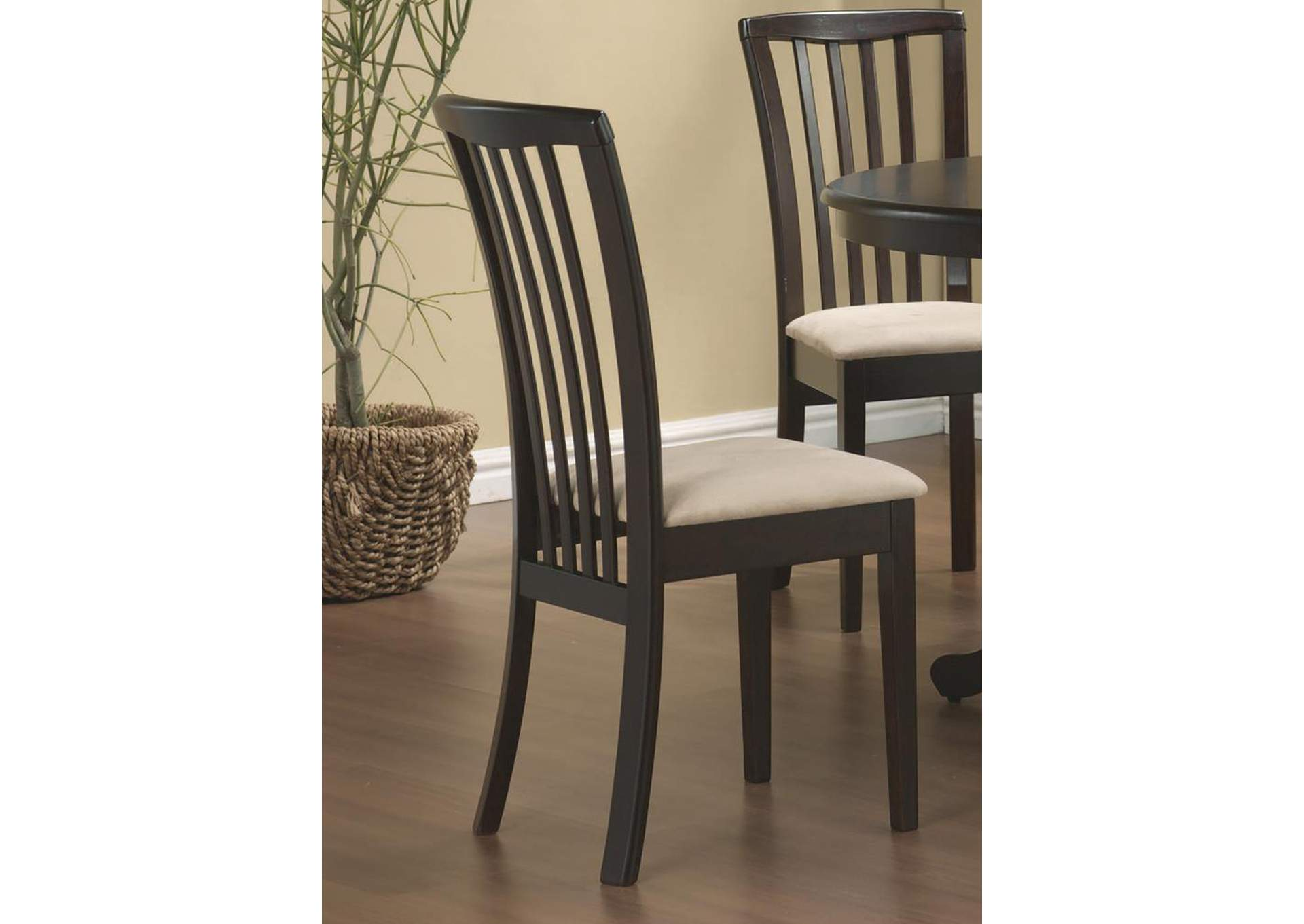 Cappuccino Brannan Casual Side Dining Chair,Coaster Furniture