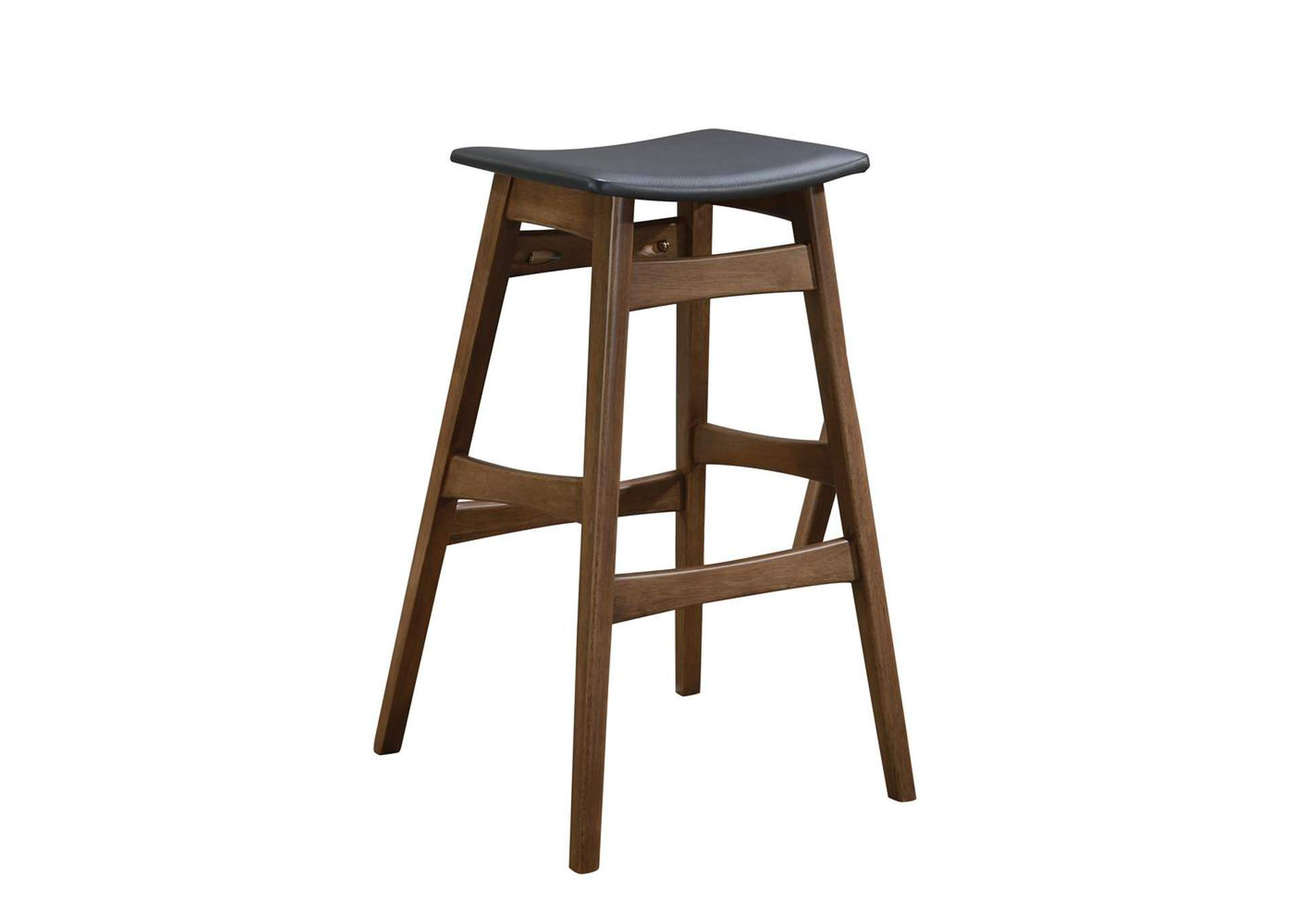 Picture of: Tapered Legs Bar Stools Dark Grey And Walnut Set Of 2 Best Buy Furniture And Mattress