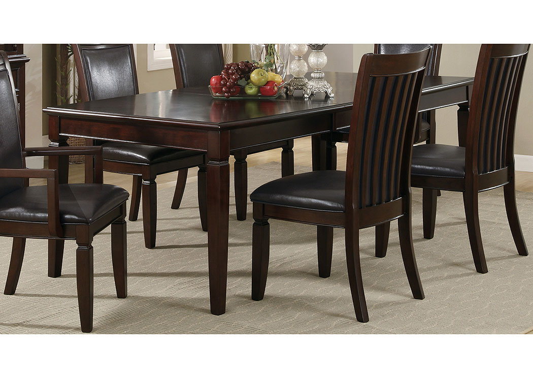 Rich Brown Ramona Transitional Dining Table United Furniture Style Springfield Pa
