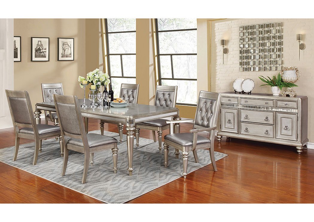 Rectangular Dining Table w/4 Side Chairs & 2 Arm Chairs,Coaster Furniture
