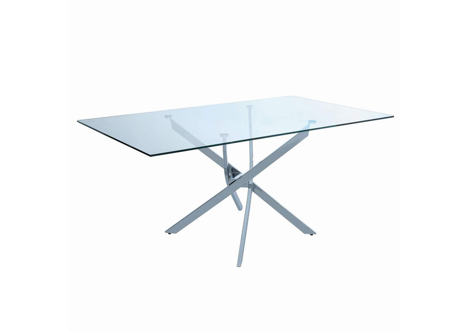 Aqua Squeeze Nathan Contemporary Chrome Dining Table,Coaster Furniture