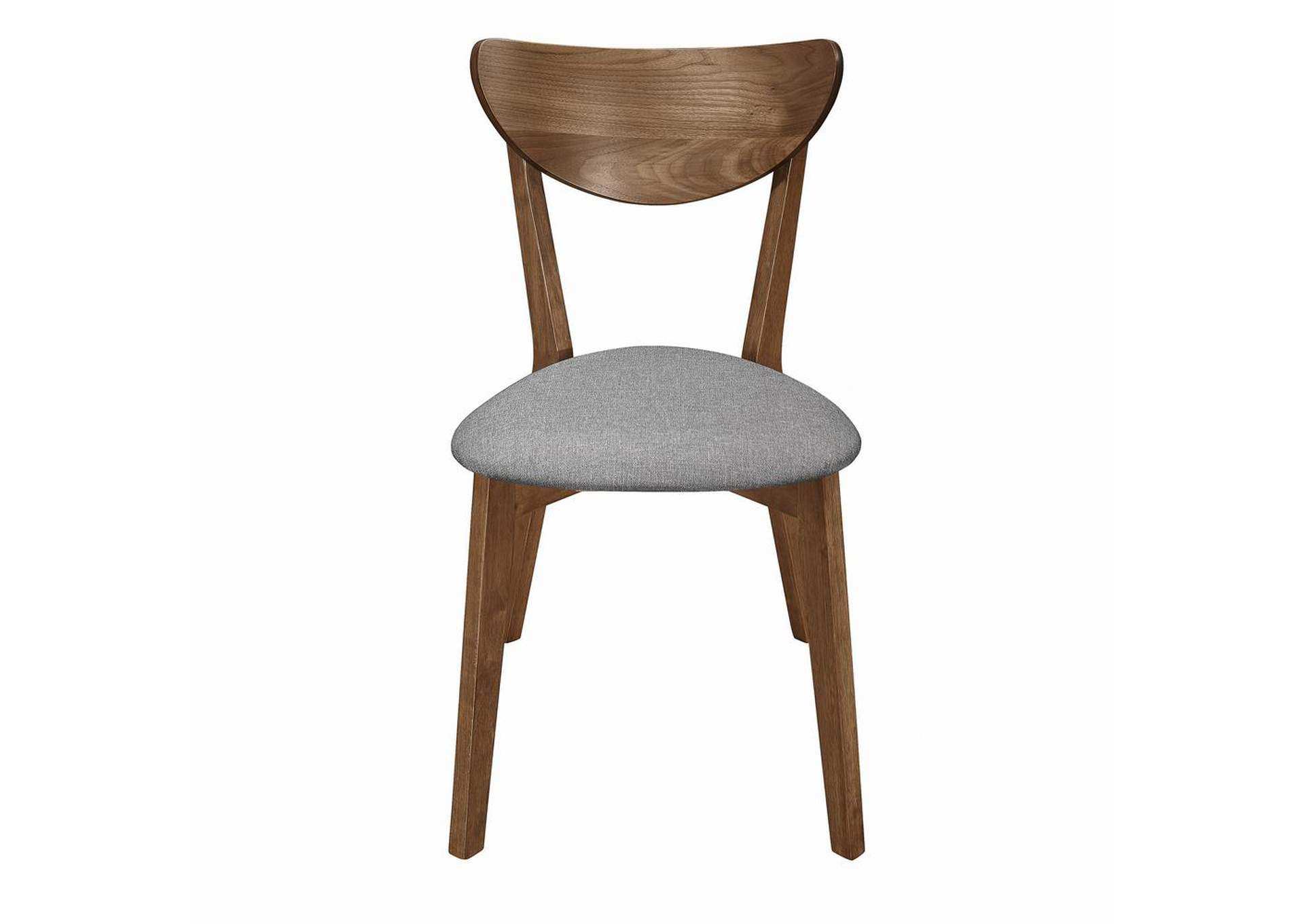 Alfredo Upholstered Dining Chairs Grey And Natural Walnut (Set of 2),Coaster Furniture