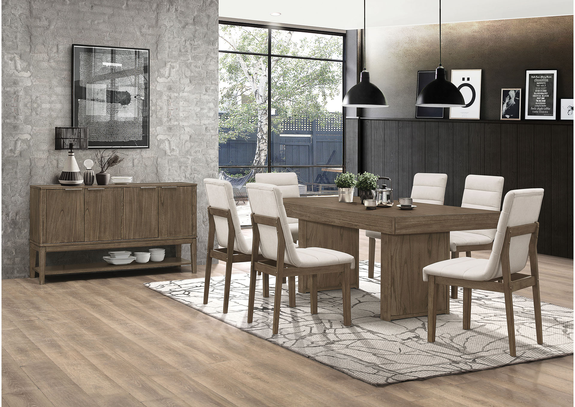 Torrington 7 Piece Dining Set,Coaster Furniture