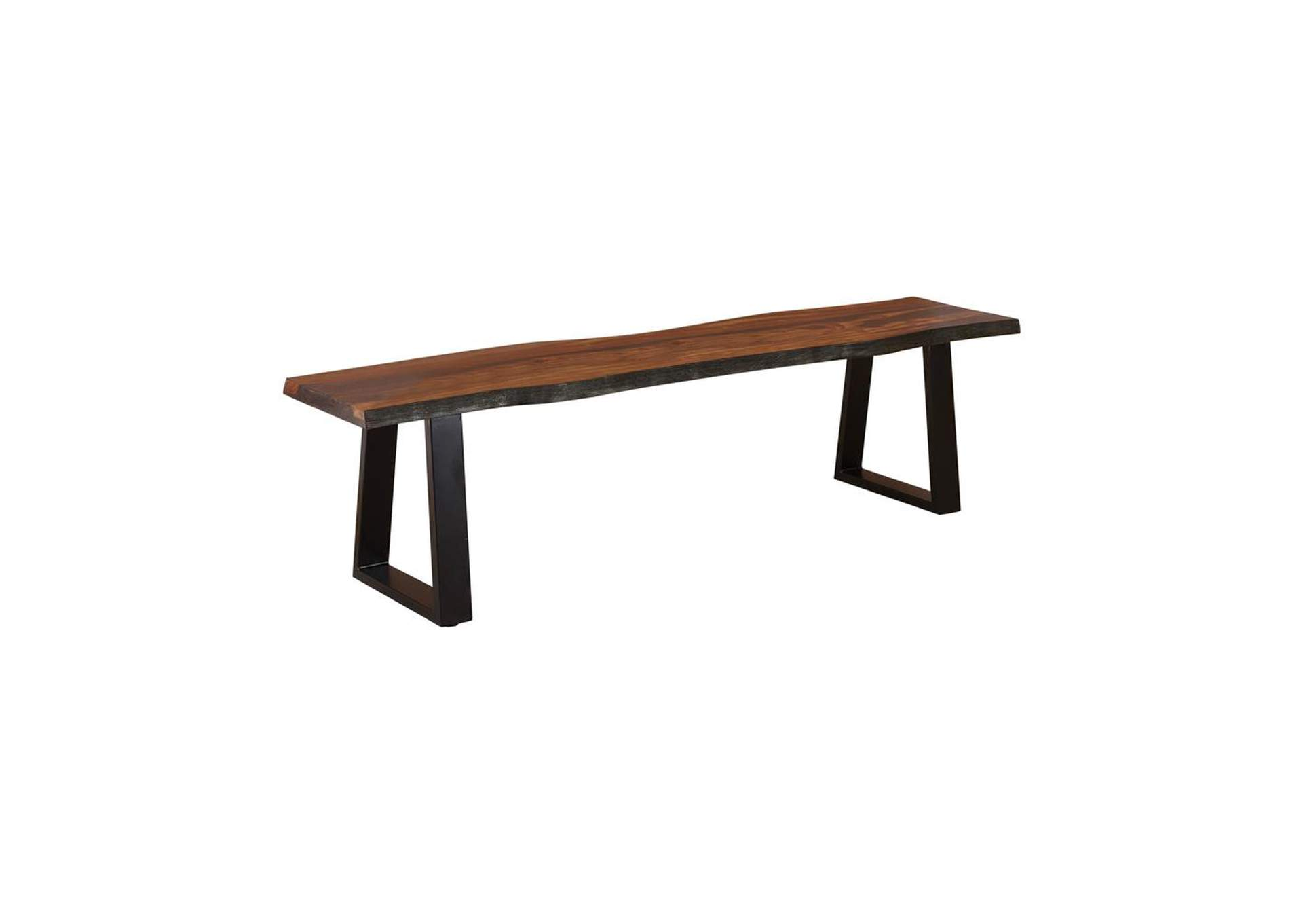 Ditman Grey Sheesham & Black Dining Bench,Coaster Furniture