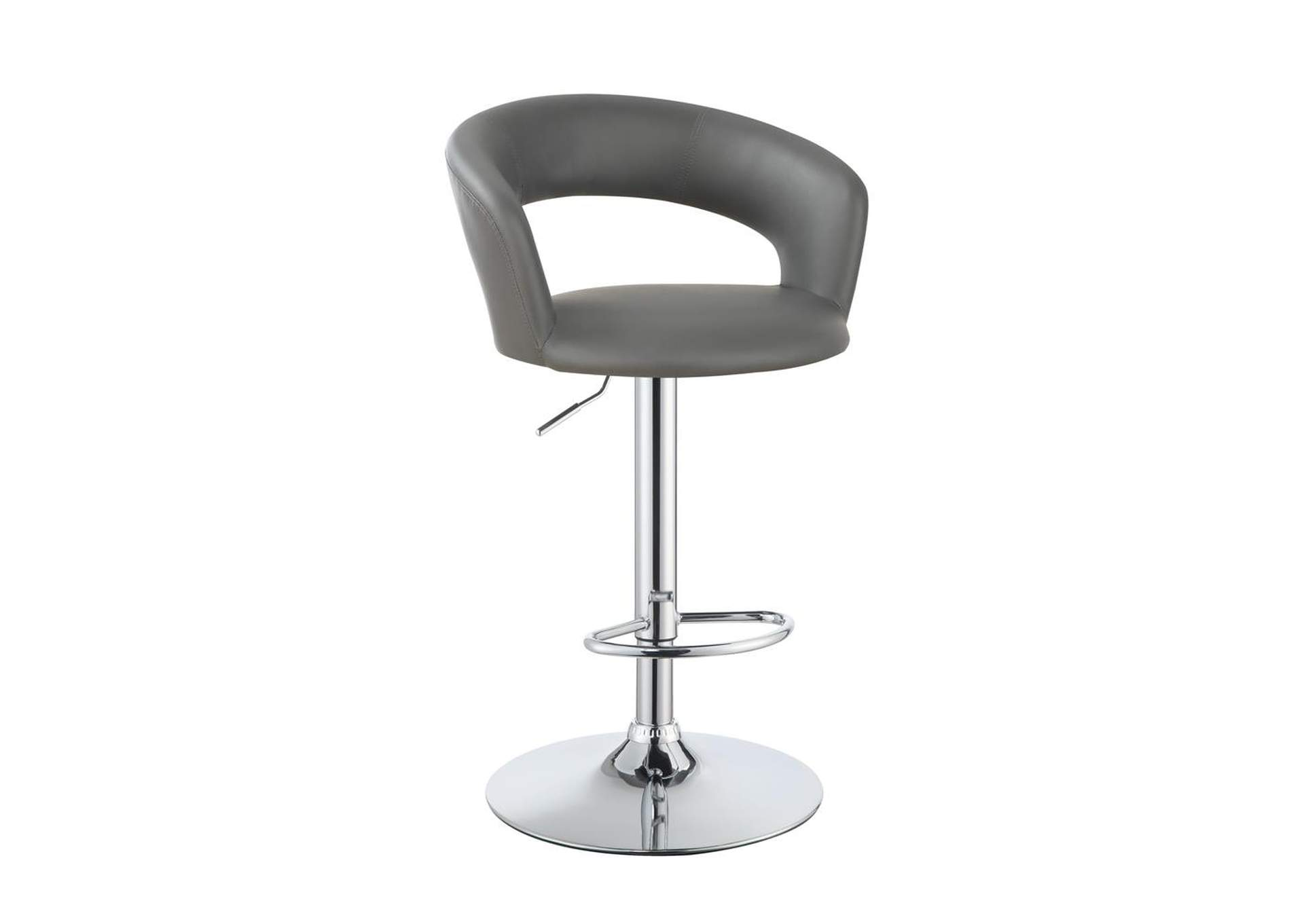 "29"" Adjustable Height Bar Stool Grey And Chrome,Coaster Furniture"