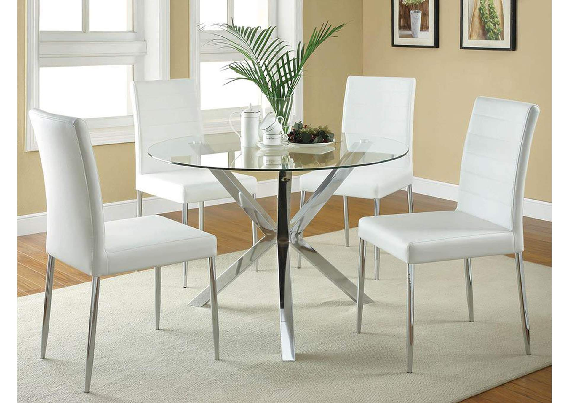 Vance Upholstered Dining Chairs White Set Of 4 Home Gallery Furniture Store Philadelphia Pa