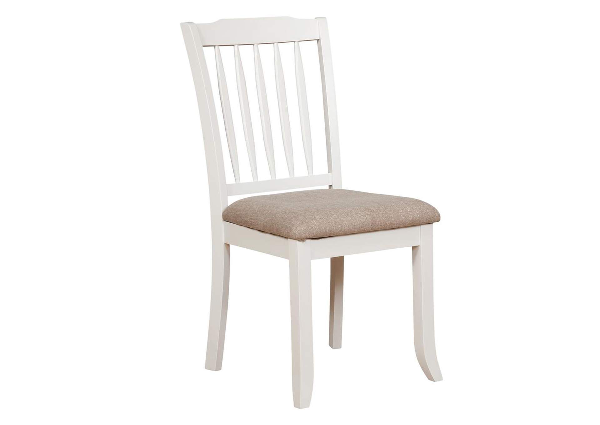 Hesperia Slat Back Dining Chairs White And Light Brown (Set of 2),Coaster Furniture