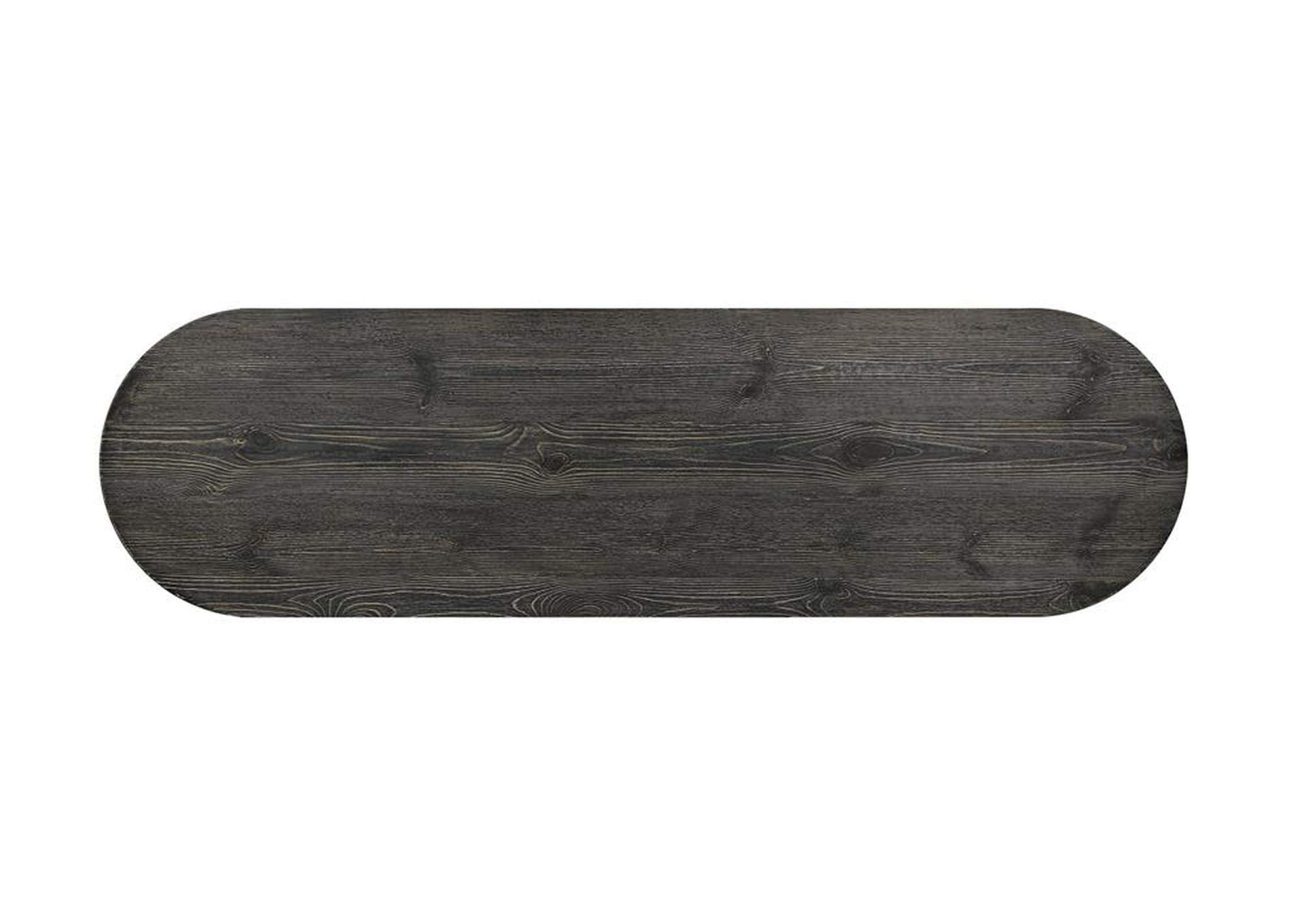 Fuscous Gray Oval Bar Table,Coaster Furniture